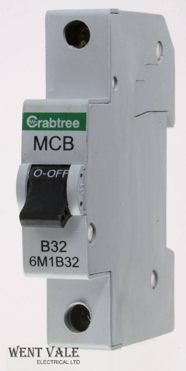 Crabtree Loadstar - 6M1B32 - 32a Type B Single Pole MCB Used